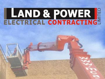 Promotional banner featuring logo for Land & Power company.